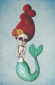 catrinas diseños bocetos tatuajes 29 • 2020 » 50 Diseños de Catrinas y Bocetos de Tatuajes de Calaveras Mexicanas 34