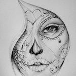 catrinas diseños bocetos tatuajes 31 e1470343687465 » 50 Diseños de Catrinas y Bocetos de Tatuajes de Calaveras Mexicanas 37