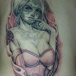 catrinas diseños bocetos tatuajes 34 » 50 Diseños de Catrinas y Bocetos de Tatuajes de Calaveras Mexicanas 40