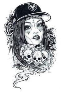 catrinas diseños bocetos tatuajes 35 » catrinas-diseños-bocetos-tatuajes (35) 3