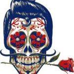 catrinas diseños bocetos tatuajes 36 » 50 Diseños de Catrinas y Bocetos de Tatuajes de Calaveras Mexicanas 7