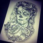 catrinas diseños bocetos tatuajes 38 » 50 Diseños de Catrinas y Bocetos de Tatuajes de Calaveras Mexicanas 43