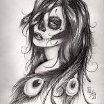 catrinas diseños bocetos tatuajes 39 » 50 Diseños de Catrinas y Bocetos de Tatuajes de Calaveras Mexicanas 44