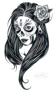 catrinas diseños bocetos tatuajes 4 » catrinas-diseños-bocetos-tatuajes (4) 3