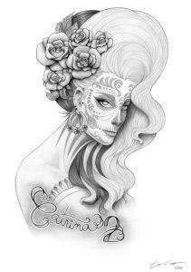 catrinas diseños bocetos tatuajes 43 » catrinas-diseños-bocetos-tatuajes (43) 3