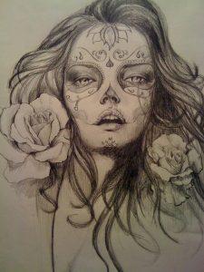 catrinas diseños bocetos tatuajes 5 » catrinas-diseños-bocetos-tatuajes (5) 3
