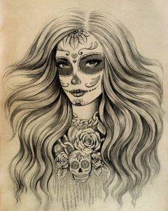 catrinas diseños bocetos tatuajes 7 » catrinas-diseños-bocetos-tatuajes (7) 3