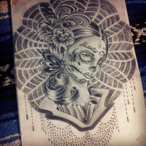 catrinas diseños bocetos tatuajes 8 » catrinas-diseños-bocetos-tatuajes (8) 3