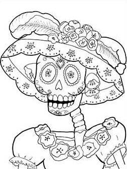 calavera catrina coloring pages - photo#9