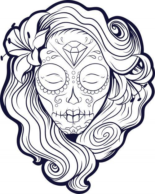 100 Imágenes de Catrinas Mexicanas | Maquillaje | Cholas 【TOP 2018】