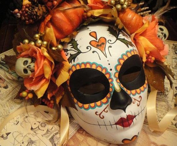 M scaras de catrinas im genes y modelos para inspirarte - Como hacer una mascara ...