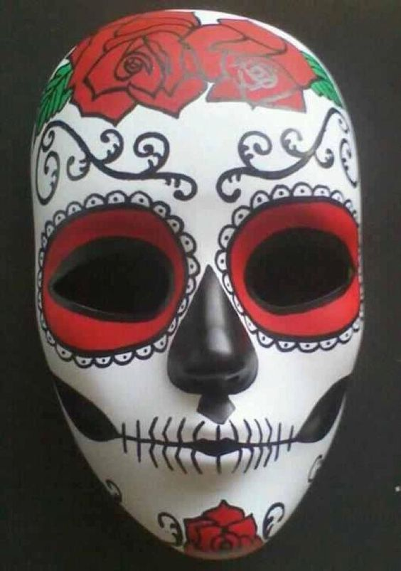 Mascaras de catrinas papel 2 catrinas10 for Day of the dead skull mask template