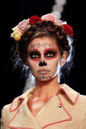 peinados de catrinas corto recogido 2 » 30 Ideas Geniales de Peinados de Catrinas Mexicanas 3