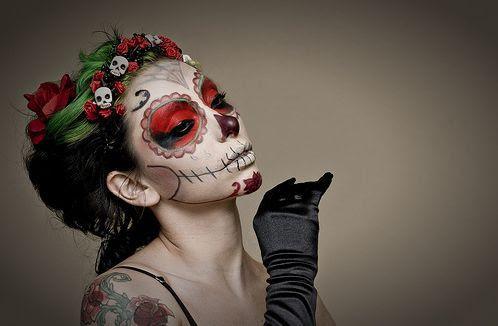 peinados de catrinas corto recogido 3 » 30 Ideas Geniales de Peinados de Catrinas Mexicanas 4