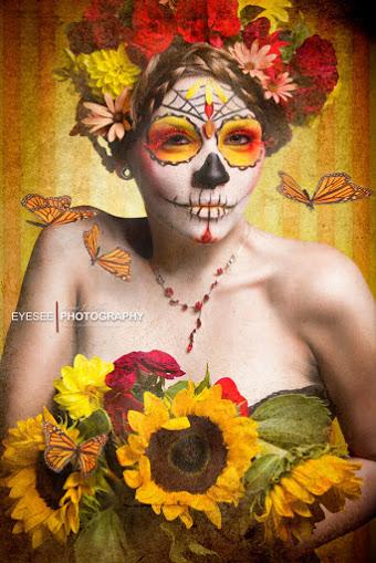 peinados de catrinas corto recogido 5 » 30 Ideas Geniales de Peinados de Catrinas Mexicanas 6