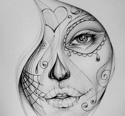 50 Diseños de Catrinas y Bocetos de Tatuajes de Calaveras Mexicanas