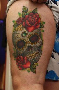 tatuajes calaveras mexicanas tattoo 1 • 2020 » 33 Tatuajes de Calaveras Mexicanas (+Significados) 9