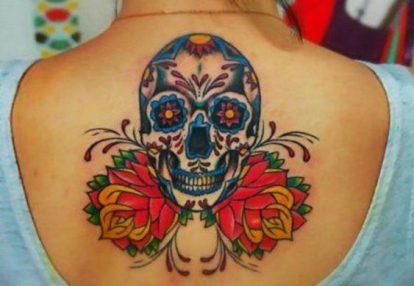 tatuajes calaveras mexicanas tattoo 6 • 2020 » 33 Tatuajes de Calaveras Mexicanas (+Significados) 12