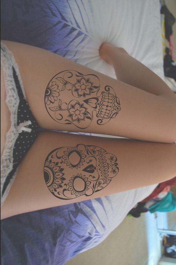 tatuajes calaveras mexicanas tattoo 8 • 2020 » 33 Tatuajes de Calaveras Mexicanas (+Significados) 13