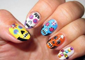 uñas decoradas catrinas 3 • 2020 » Uñas decoradas de Halloween, Catrinas y Calaveras Mexicanas 10