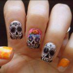 uñas decoradas catrinas 5 e1472749990302 » Uñas decoradas de Halloween, Catrinas y Calaveras Mexicanas 13