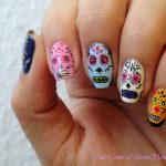 uñas decoradas catrinas 6 » Uñas decoradas de Halloween, Catrinas y Calaveras Mexicanas 14