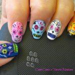 uñas decoradas catrinas 7 » Uñas decoradas de Halloween, Catrinas y Calaveras Mexicanas 15