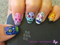 uñas decoradas catrinas 7 • 2020 » Uñas decoradas de Halloween, Catrinas y Calaveras Mexicanas 14