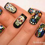 uñas decoradas catrinas 9 » Uñas decoradas de Halloween, Catrinas y Calaveras Mexicanas 4