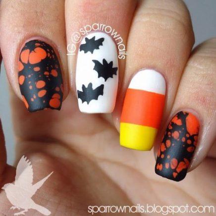 uñas decoradas halloween catrinas 11 • 2020 » Uñas decoradas de Halloween, Catrinas y Calaveras Mexicanas 34
