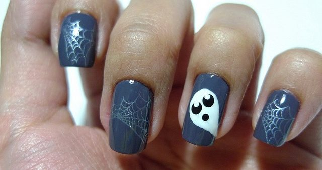 uñas decoradas halloween faciles catrinas 8 e1472750165379 • 2020 » Uñas decoradas de Halloween, Catrinas y Calaveras Mexicanas 52