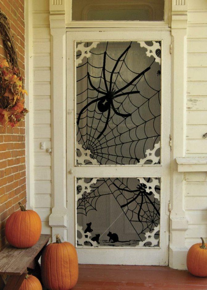 decoracion de las puertas de casa en halloween 13 » Ideas geniales para la decoración de las puertas de casa en Halloween 10