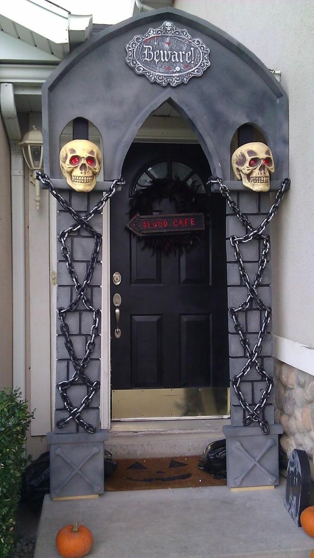 Ideas geniales para la decoraci n de las puertas de casa for Puertas decoradas halloween calabaza