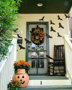 decoracion de las puertas de casa en halloween 31 » Ideas geniales para la decoración de las puertas de casa en Halloween 11