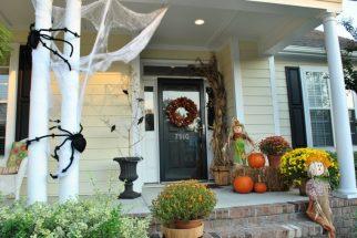 decoracion de las puertas de casa en halloween 9 » Ideas geniales para la decoración de las puertas de casa en Halloween 7