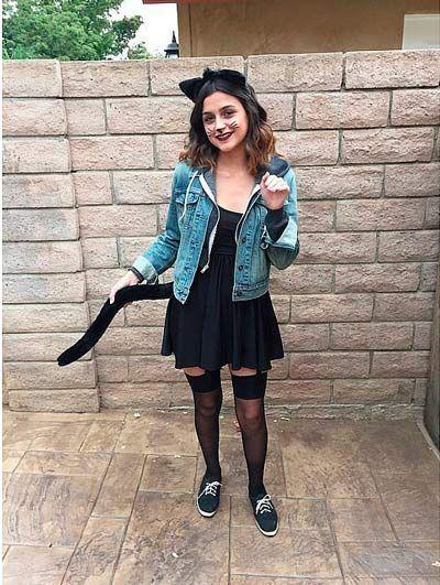 disfraces caseros para halloween mujeres de gata