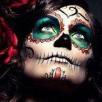 maquillaje catrina tatuaje temporal » Genial maquillaje de Catrinas con tatuajes temporales 13