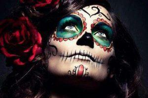 maquillaje catrina tatuaje temporal • 2020 » Genial maquillaje de Catrinas con tatuajes temporales 9