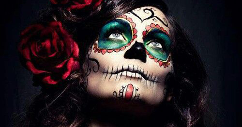 maquillaje catrina tatuaje temporal » Genial maquillaje de Catrinas con tatuajes temporales 1
