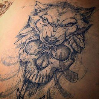diseno tatuajes calaveras 5 • 2020 » 30 Tatuajes de Calaveras para inspirarte 10