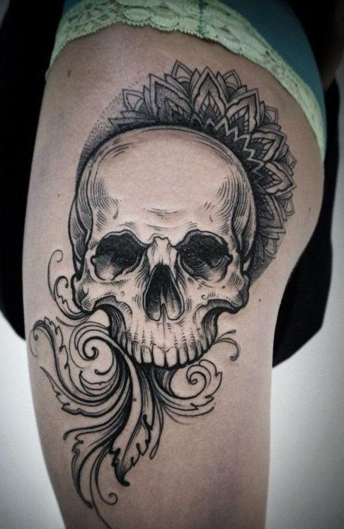tatuajes calaveras 5 » 30 Tatuajes de Calaveras para inspirarte 29