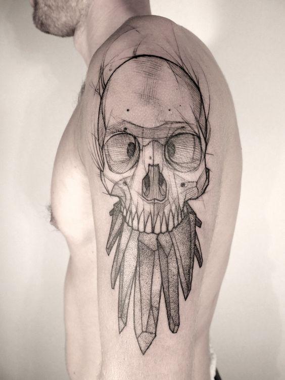 tatuajes calaveras 6 » 30 Tatuajes de Calaveras para inspirarte 28