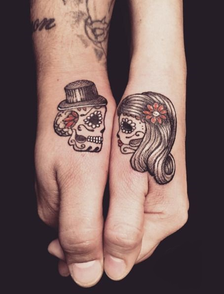 tatuajes calaveras parejas 1 » 30 Tatuajes de Calaveras para inspirarte 21