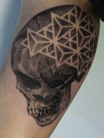tatuajes craneos 1 • 2020 » 30 Tatuajes de Calaveras para inspirarte 11