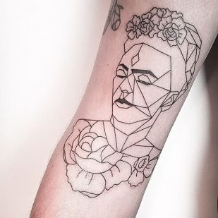 30 Tatuajes Bellos Inspirados En Frida Kahlo Catrinas10