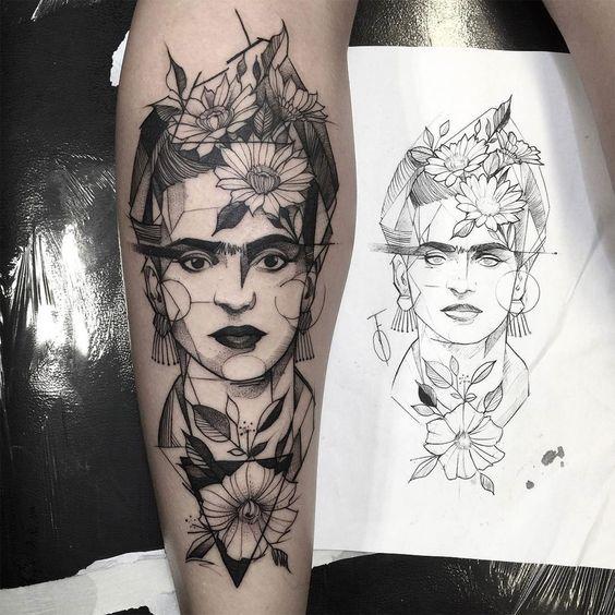 1tatuajes frida kahlo 3 • 2020 » Ideas Originales para Tatuajes de Frida Kahlo 21