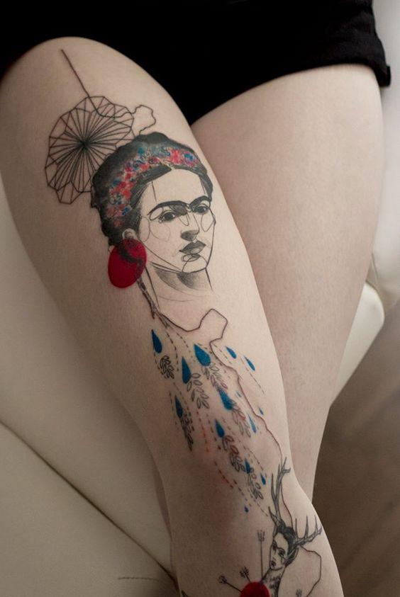 tatuajes frida kahlo 10 • 2020 » Ideas Originales para Tatuajes de Frida Kahlo 5
