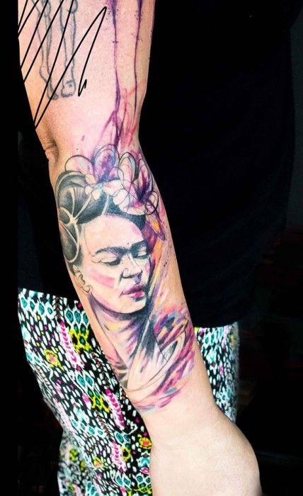 tatuajes frida kahlo 11 • 2020 » Ideas Originales para Tatuajes de Frida Kahlo 7