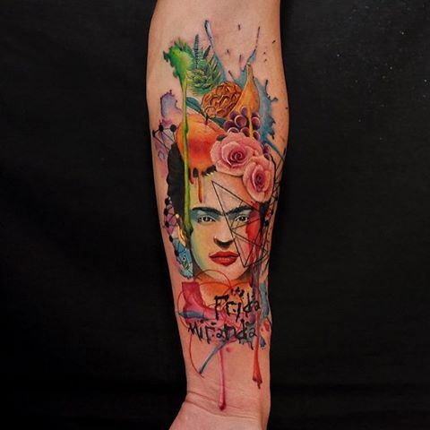 tatuajes frida kahlo 13 • 2020 » Ideas Originales para Tatuajes de Frida Kahlo 8