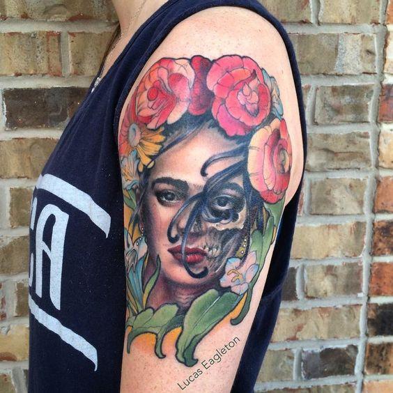 tatuajes frida kahlo 15 • 2020 » Ideas Originales para Tatuajes de Frida Kahlo 9